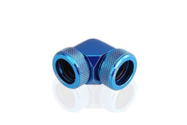 Bykski B-HTJ-DB90-V2-BLU HardTube 14mm 90° elbow connector - blue